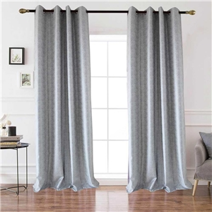 Grey Check Jacquard Curtain Nordic Simple Semi Blackout Curtain Living Room Bedroom Kid's Room Fabric