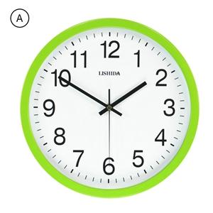 Modern Mute Wall Clock Colored Frame Iron Wall Clock