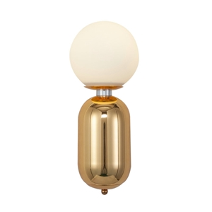 Nordic Simple Wall Lamp Glass Round Ball Wall Lamp with Capsule Shape Fixture Bedside Study Sconce