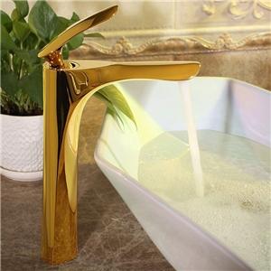 Luxurious Design Basin Faucet Solid Brass Bathroom Vessel Sink Tap