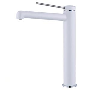 Modern Round Bathroom Sink Faucet Solid Brass Vessel Sink Tap