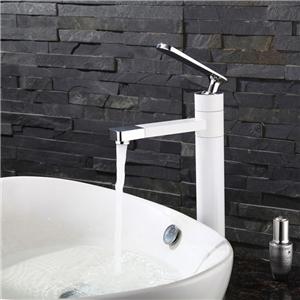 Deck Mount Bathroom Sink Faucet Modern Sleek Bathroom Sink Tap with Swiveling Spout