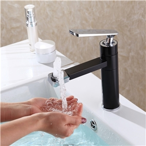Sleek Bathroom Sink Faucet Modern Right-angled Bathroom Sink Tap with Swiveling Spout