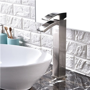 Contemporary Basin Faucet Waterfall Bathroom Vessel Tap
