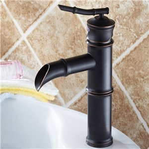 Bamboo Basin Faucet Antique Style Bathroom Sink Tap
