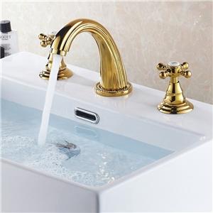 Luxurious Basin Faucet Widespread Bathroom Sink Tap