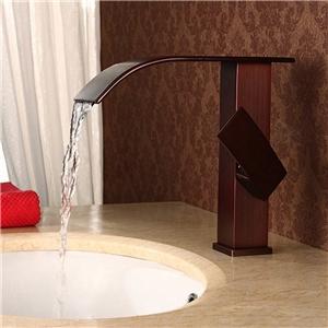 Elegant Waterfall Sink Tap Special ORB Bathroom Sink Faucet