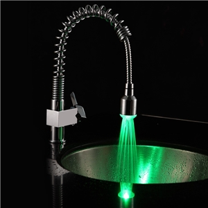 Chrome LED Kitchen Faucet Modern Springs Kitchen Tap