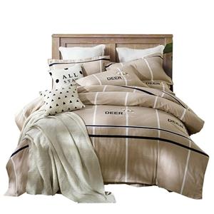 Modern Deer Bedding Set Soft Skin-friendly Bedclothes Pure Cotton 4pcs Duvet Cover Set