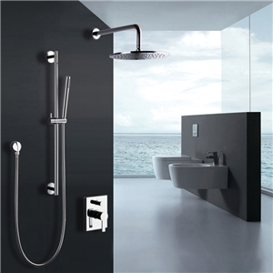 Contemporary Rainlfall Shower Faucet In-wall Rainshower with Handshower Set