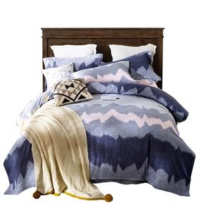 Wavy Line Bedding Set Soft Skin-friendly Bedclothes Pure Cotton 4pcs Duvet Cover Set