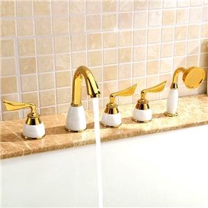 Luxurious Tub Faucet Modern Widespread Bathtub Tap