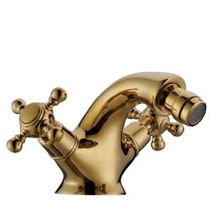 Classical Bidet Faucet Deck Mount Widespread Tap Golden/Chrome/Antique