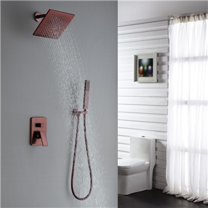 ORB Rain Shower Faucet Modern Wall Mount Square Shower System