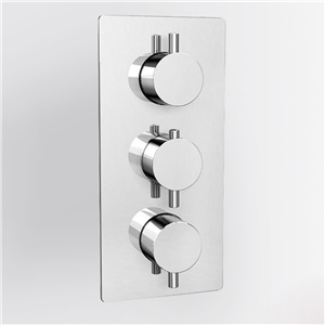 Chrome Thermostatic Shower Valve 3 Outlets Solid Brass Shower Valve