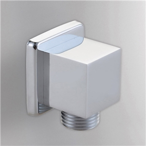 Solid Brass Hand Shower Supply Elbow Square Chrome Shower Elbow