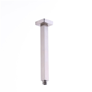 Modern Square Shower Arm Brushed Nickel Ceiling Mount Shower Arm 10 Inch