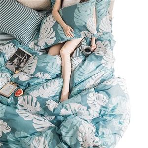Banana Leaf Bedding Set Rural Pure Cotton Bedclothes Breathable 4pcs Duvet Cover Set