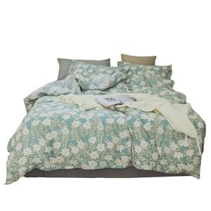 Rural Small Flowers Bedding Set Pure Cotton Bedclothes Breathable 4pcs Duvet Cover Set