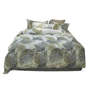 Yellow Leaf Bedding Set Pure Cotton Rural Bedclothes Breathable 4pcs Duvet Cover Set