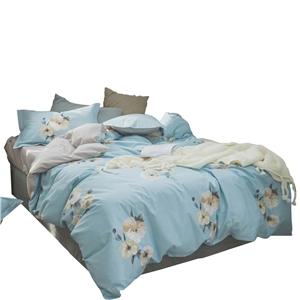 Rosa Multiflora Bedding Set Fresh Pure Cotton Bedclothes Breathable 4pcs Duvet Cover Set