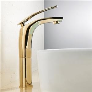 Simple High Sink Faucet Widespread Bathroom Sink Tap