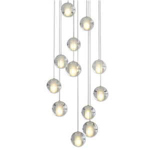 LED Crystal Ball Pendant Light Modern Crystal Pendant Light Bedroom Living Room Study Light