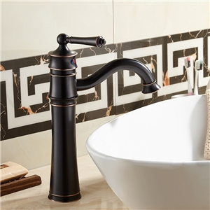 Tobacco Pipe Bathroom Sink Faucet Solid Brass Victorian Style Bathroom Sink Tap