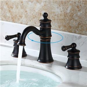Antique Elegant Bathroom Sink Faucet Victorian Style Widespread Bathroom Sink Tap