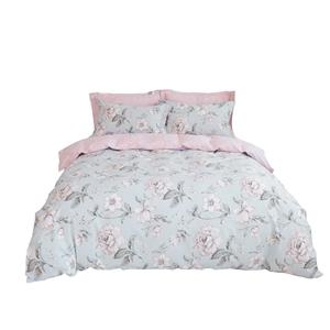 Rural Floral Bedding Set Simple Pure Cotton Bedclothes Breathable 4pcs Duvet Cover Set
