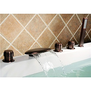Elegant ORB Tub Fuacet Deck Mount Waterfall Bathtub Tap