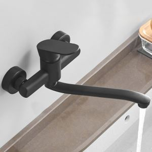 Matte Black Kitchen Faucet Special Wall Mount Kitchen Tap