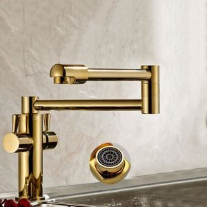 Modern Gold Kitchen Faucet Foldable Kitchen Tap