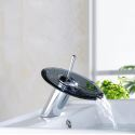 Glass Waterfall Basin Faucet Modern Special Sink Tap