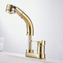 Liftable Golden Faucet Luxurious Pull-out Tap