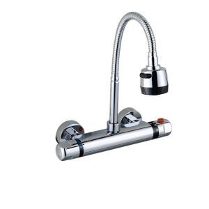 Modern Thermostatic Kitchen Faucet Chrome Omni-directional Kitchen Tap