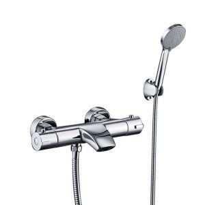 Modern Thermostatic Shower Faucet Handheld Chrome Shower Faucet
