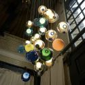 Contemporary LED Pendant Light Colorful Crystal Glass Pendant Light Bedroom Kid's Room Light(Colorful Style Pls Contact Customer Service)