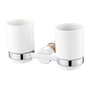 Bathroom Accessories Solid Brass Marble Wall Mount Double Tumbler Holder