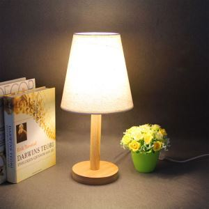 Traditional Simple Table Lamp Japanese Wooden Table Lamp Nordic Style Study Lighting