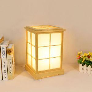 Modern Wooden Bedside Table Lamp Japanese Creative Table Lamp Living Room Study Lighting