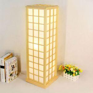 Building Shape Floor Lamp Creative Wooden Floor Lamp Japanese Style Lighting