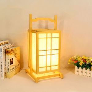 Japanese Wooden Floor Lamp Modern Special Lantern Creative Living Room Bedroom Study Table Lamp