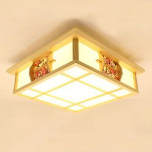 Special Burlywood Ceiling Light Japanese LED Ceiling Light Bedroom Balcony Aisle Lighting