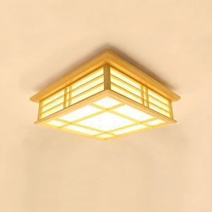 Contemporary Wooden Ceiling Light Interlaced Lines LED Ceiling Light Living Room Bedroom Study Lighting