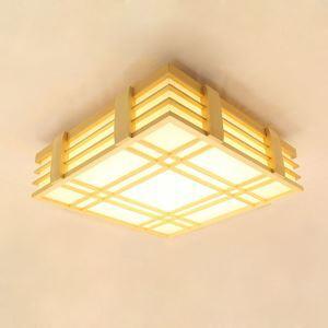 Solid Wood LED Ceiling Light Modern Simple Ceiling Light Bedroom Study Lighting