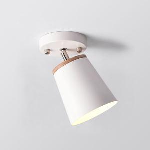 Nordic Iron Spotlight Wooden Simple Ceiling Light