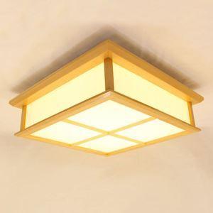 Creative Pinus Wooden Ceiling Light Modern LED Ceiling Light Hallway Lighting