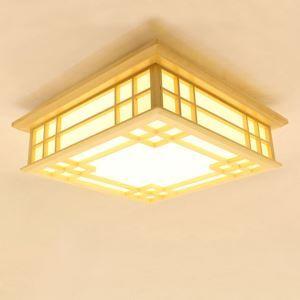 Japanese LED Ceiling Light Pinus Wooden Ceiling Light Living Room Bedroom Study Lighting