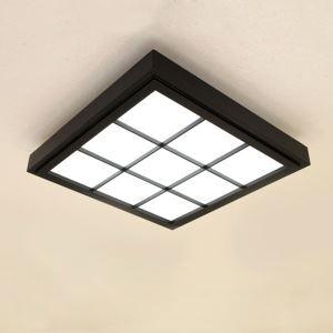 Nordic Simple LED Ceiling Light Modern Black Ceiling Light Living Room Bedroom Balcony Wooden Lighting